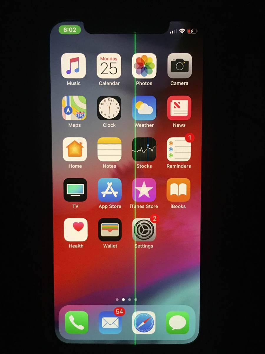 iphone xs max green line on screen repair dallas